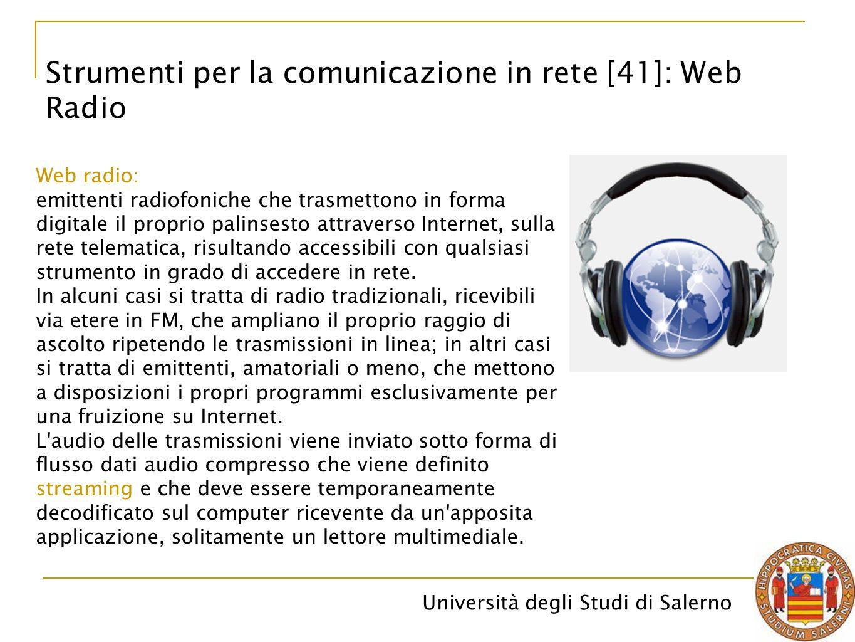 Strumenti per la comunicazione in rete [41]: Web Radio